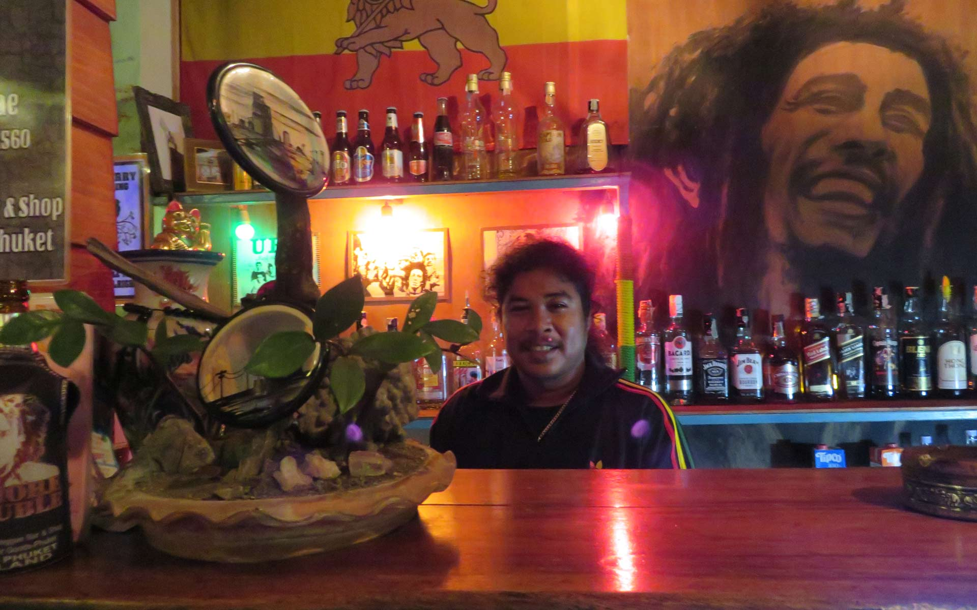 Boy Reggae Bar at the bar