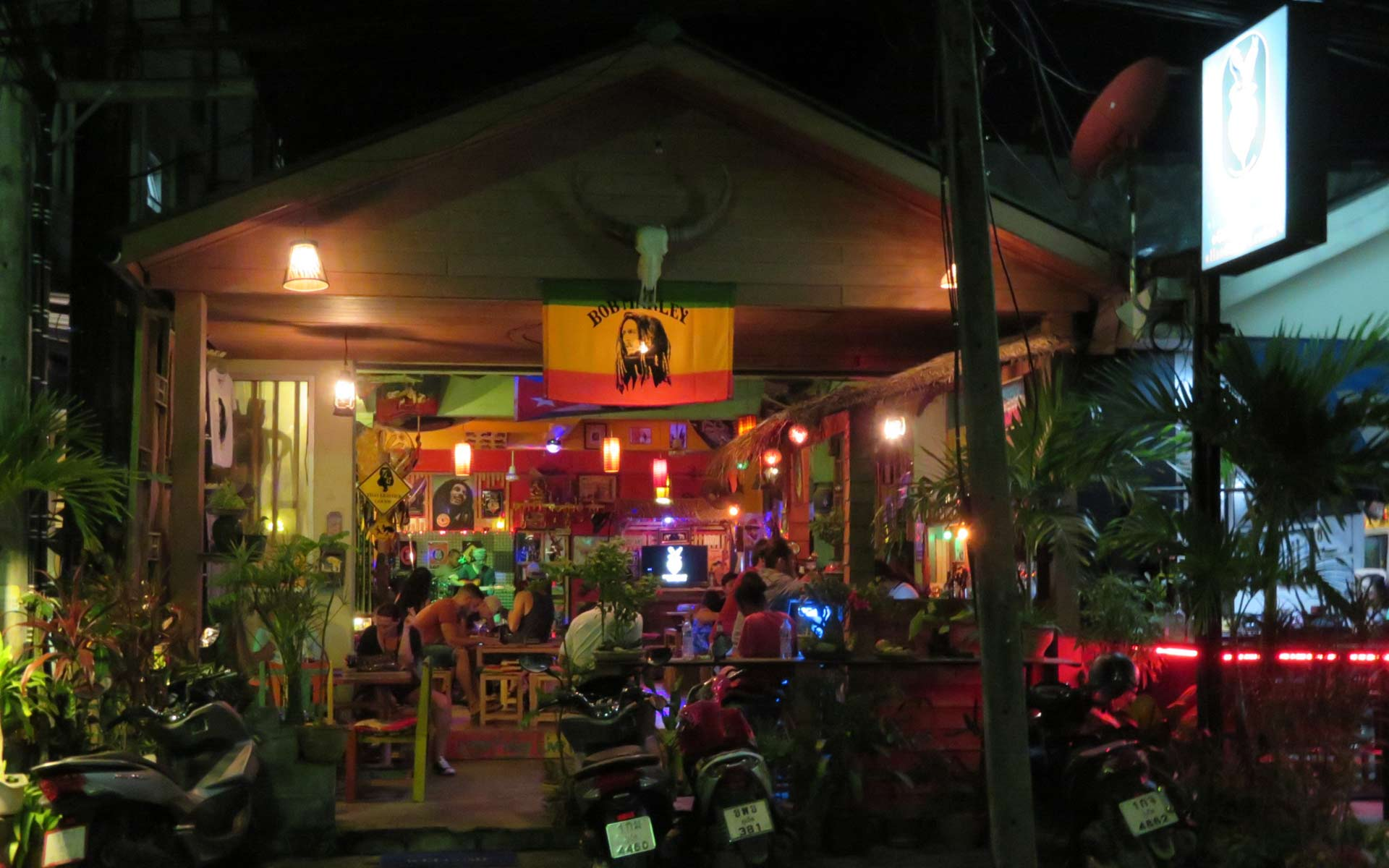 Roots Rock Reggae Bar and Shop on Nanai Road, Patong Beach